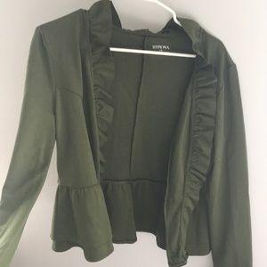 Merona Green Blouse - Large